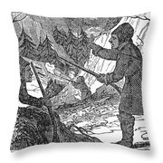 Siberia: Weasel Hunting Throw Pillow