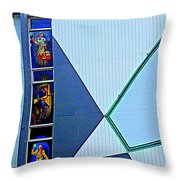 Side Of Building Throw Pillow