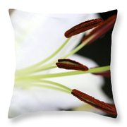 Side View Lily Throw Pillow