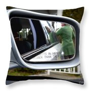 Side View Mirror Throw Pillow