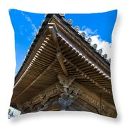 Side View On A Teahouse In Japan Throw Pillow