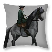 Sidesaddle Throw Pillow