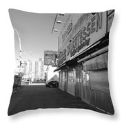 Sidewalks Of Gum In Black And White Throw Pillow