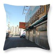Sidewalks Of Gum Throw Pillow