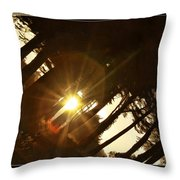 Sideways Sunset Throw Pillow