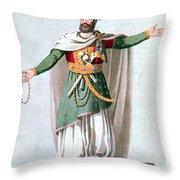 Sidy Hafsan, Bey Of Tripoli, 1816 Throw Pillow