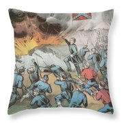 Siege And Capture Of Vicksburg, 1863 Throw Pillow by Photo Researchers