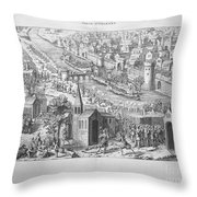 Siege Of Orleans, 1428-1429 Throw Pillow