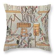 Siege Of Tenochtitlan, 1521 Throw Pillow