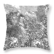 Siege Of Waterford, 1169 Throw Pillow