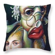 Siegfried And Koi Throw Pillow