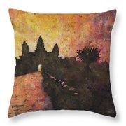 Siem Reap Sunrise 3 Throw Pillow