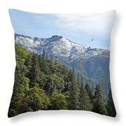 Sierra First Snow Throw Pillow