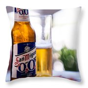 Siesta Time I. Beer Sun Miguel Throw Pillow