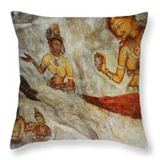 Sigiriya Fresco. Sri Lanka Throw Pillow