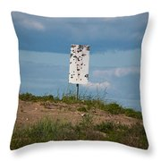 Sign At The Gulf Of Bothnia Throw Pillow