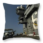 Signalman Directs The Movement Of An Throw Pillow