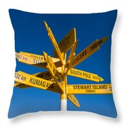 Signpost In Sterling Point Bluff Throw Pillow