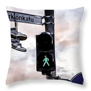 Signs And Shoes Throw Pillow