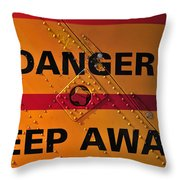 Signs Of Danger Throw Pillow