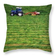 Silage Making, Ireland Throw Pillow