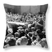 Silent Film: Crowds Throw Pillow