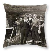 Silent Film Set, C1925 Throw Pillow