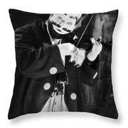 Silent Film Still: Clown Throw Pillow
