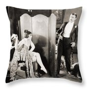 Silent Film Still: Legs Throw Pillow