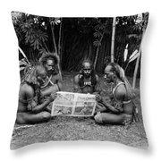 Silent Film Still: Natives Throw Pillow