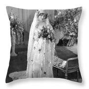 Silent Film: Wedding Throw Pillow