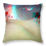 Silent Night - Red And Cyan 3d Glasses Required Throw Pillow