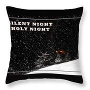 Silent Night Card Throw Pillow