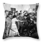 Silent Still: Army & Navy Throw Pillow by Granger