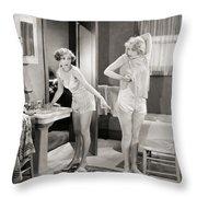 Silent Still: Bathroom Throw Pillow