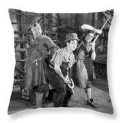 Silent Still: Blacksmith Throw Pillow