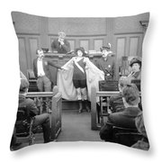 Silent Still: Courtroom Throw Pillow
