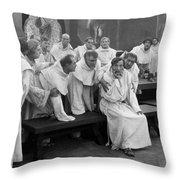 Silent Still: Group Of Men Throw Pillow