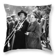 Silent Still: Musicians Throw Pillow by Granger