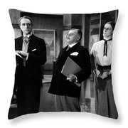 Silent Still: Offices Throw Pillow