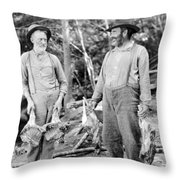 Silent Still: Old People Throw Pillow