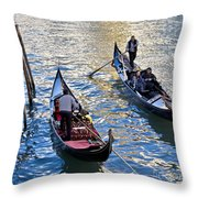 Silently Drifting Gondolas Throw Pillow