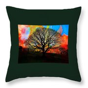 Silhouette In Winter Throw Pillow