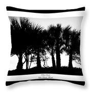 Silhouette Palm Sunset Throw Pillow