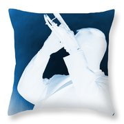Silhouette Trumpet Throw Pillow