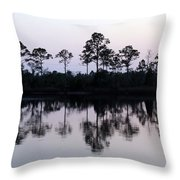 Silhouetted Trees Throw Pillow