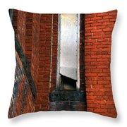 Silk Mill Soot Throw Pillow