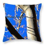 Silk Tree Throw Pillow