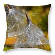 Silky Autumn Throw Pillow