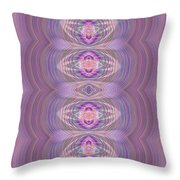 Silky Violet Throw Pillow
